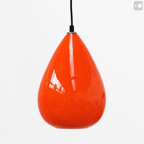 Retro Vintage Orange Glass Lamp Shade Teardrop Globe