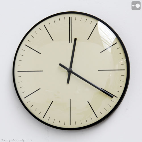 Industrial Clock Vintage Factory Clock Schauer 1960